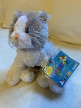 Webkinz Gray and White Cat brand **SMOKE FREE HOME ** Used Cute Toy Doll - $18.70