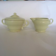 Vintage FRANCISCAN TIEMPO Green Cream & Sugar  Set Circa 1950's  Lk NW!! - $21.78