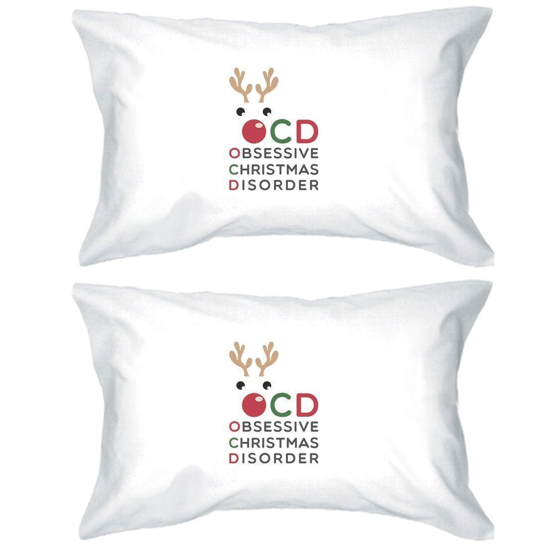 Primary image for Rudolph OCD Pillowcases Standard Size Christmas Gift Pillow Covers