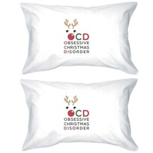 Rudolph OCD Pillowcases Standard Size Christmas Gift Pillow Covers - $30.99