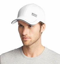 Hugo Boss Men's Cotton Twill Adjustable Sport Embroidered Logo Hat Cap (White) image 4