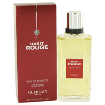 HABIT ROUGE by Guerlain 3.4 oz / 100 ml Cologne  EDT Spray for Men - $46.52