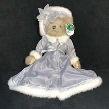 Bearington Bear Cecilia Bear Plush Stuffed Animal Tan Holiday Silver Dre... - $21.77