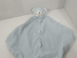 Angel Dear plush blue sleeping teddy bear Baby Security Blanket Lovey kn... - $4.94