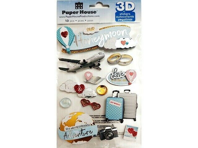 Paper House 3D Our Wedding Sticker Set #STDM-0329