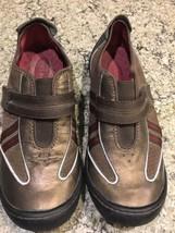 CLARKS Privo Metallic Bronze Brown Leather Women's Sneaker 7.5 #23 - $17.10