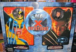 X-MEN RETRO WOLVERINE & MOVIE WOLVERINE X MUTATIONS 2 PACK TOY BIZ LE 15... - $44.54