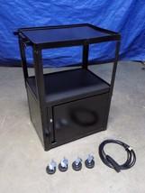 """Edsal Steel AV Mobile Cabinet Cart w/ 15 Ft. 3-Outlet Power Cord 42"""" x 2... - $165.84"""