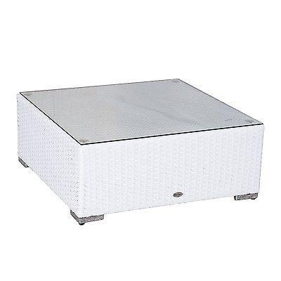 Luxury Wicker Garden Rattan Set Patio Sofa 2 Chairs Coffee Table Cushions White  image 5