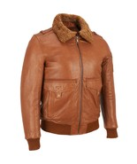New Mens M Wilsons Leather Jacket Coat Bomber Brown Removable Fur Collar... - $320.00