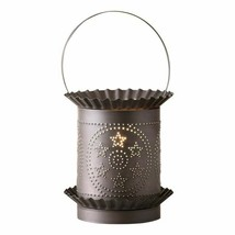 Jumbo Wax Warmer with Circle Star in Kettle Black Country Light Handcrafted - $41.57
