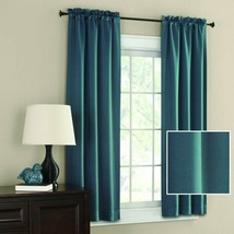 """Mainstays Room Darkening Solid Woven Curtain Panel Pair 30""""W 63"""" OR 84""""L Ea Teal - $21.77+"""