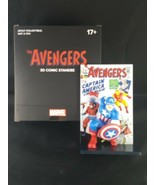 The Avengers 3d Comic Standee Captain America Marvel Loot Crate NEW Comi... - $14.84