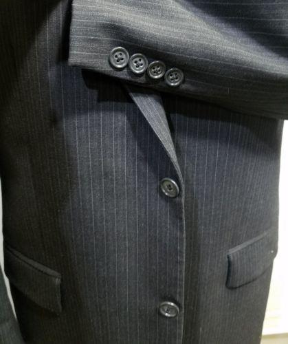 CALVIN KLEIN MACY'S MEN'S SPORT COAT PINSTRIPE BLACK 43R WOOL 122073180 CANADA