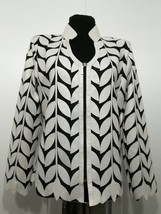White Woman Leather Jacket Women Coat Zipper Short Light V Collar All Si... - $150.00