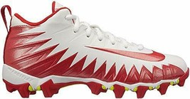 New in Box Nike Kids' Alpha Menace Shark BG Football Cleats Size 3Y Whit... - $42.75