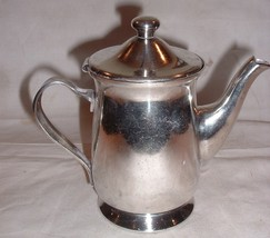 Vintage Silverplate Teapot Hotel or Restaurant Oneida /  RAM'S HEAD - $25.00