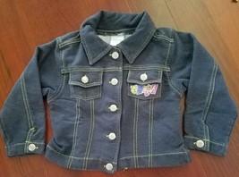 Disney Denim Blue Jean Jacket Baby Girls Pooh Bear 24 Mo. Toddler Blue S... - $7.69