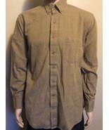 Viyella Men's Large Cotton Wool Blend Brown Plaid Long Sleeve Casual Shi... - $29.02