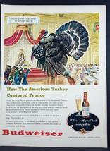 1948 Budweiser American Turkey Vintage Magazine Print Ad - $7.43