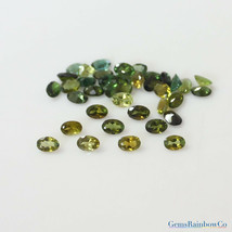 5x3mm and 6x4mm Green Tourmaline Oval Faceted Loose gemstone AAA Quality - $13.49+