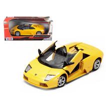 Lamborghini Murcielago Roadster Yellow 1/24 Diecast Model Car by Motorma... - $29.91