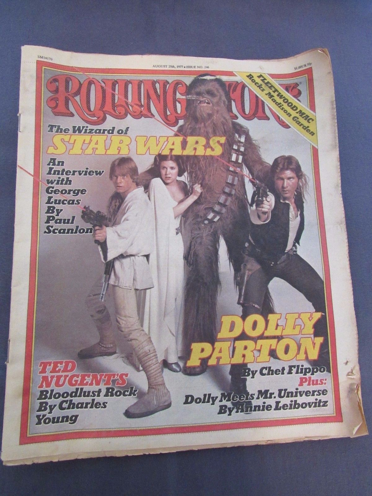 Rolling Stone Magazine No. 246 Star Wars 1977 Aug 25 George Lucas Interview