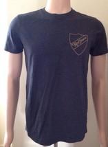 Diesel T Shirt Mens Dark Denim Grey Size Small Red Sauce Logo - $32.56
