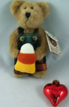 "PAULY PUNKLEY #919637 Boyds Bears 2002 7"" Plush CandyCorn/ Plaid Overalls NWT - $11.87"