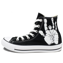 Converse All Star Grateful Dead Skull Roses Custom Hand Painted Canvas S... - $124.99