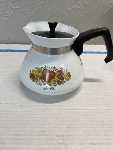 Vintage Corning Ware 6 Cup Spice Of Life Le The P-104 Tea Pot Very Nice - $18.66