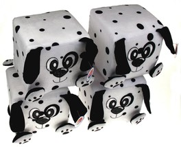 "Nanco Qubz Dog Puppy Dalmatian Lot of 4 Soft Plush Stuffed Animal 6"" Cub... - $7.69"