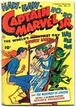 Captain Marvel Jr #117 1953- Horror crossover- Golden Age Fawcett VG - $105.54