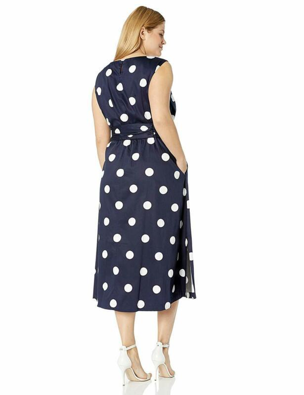 Anne Klein Women'S Size Plus Midi Dress With Attached Sash image 3