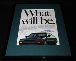 1985 Honda Accord 11x14 Framed ORIGINAL Vintage Advertisement - $32.36