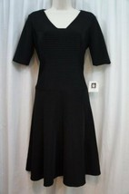 Anne Klein Dress Sz 4 Black A-Line Flare Sheath Career Cocktail Dress  - $24.18