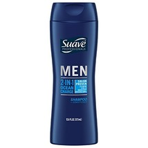 Suave Men 2 in 1 Shampoo and Conditioner, Ocean Charge, 12.6 Fl Oz Pack of 6