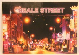 Beale Street Postcard Night time all lit up  - $3.46