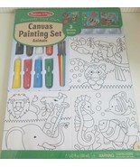 Melissa & Doug Canvas Painting Set Animal Portraits 3 Canvases 8 Tubes o... - $24.75