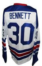 Custom Name # Omaha Knights Retro Hockey Jersey New White Bennett #30 Any Size image 2