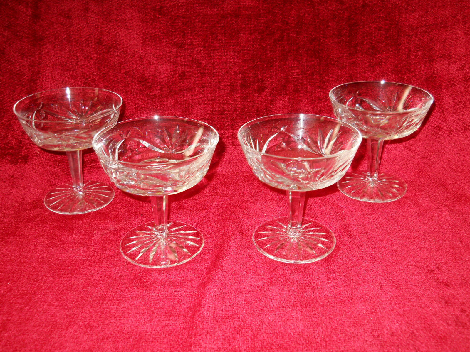 Waterford Ashling set of 4 champagne / sherbet