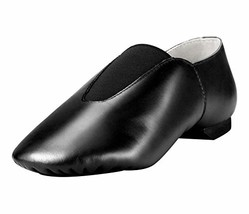 Linodes Women's Leather Upper Jazz Shoe Slip-on with Elastic Top Piece B... - $28.47