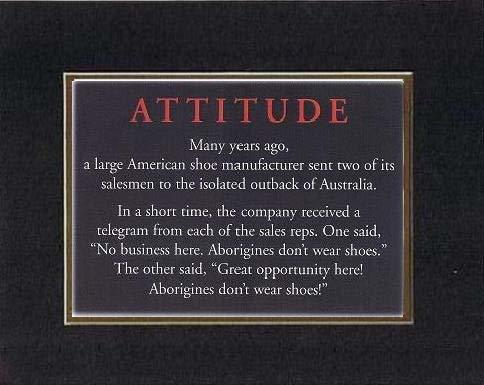 Touching and Heartfelt Poem for Motivations - [ATTITUDE - Many years ago, a larg - $10.84