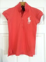 RALPH LAUREN TEENAGE GIRLS PRE-OWNED INDIANRED 100%COTTON POLO SHIRT SZ:... - $31.32