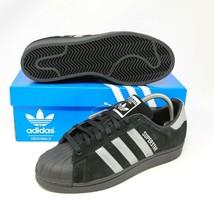 Adidas Superstar Coque Orteil Noir Argent B41987 Taille 8.5 Mode Basket Rue - $138.01