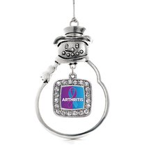 Inspired Silver Arthritis Classic Snowman Holiday Christmas Tree Ornamen... - $14.69