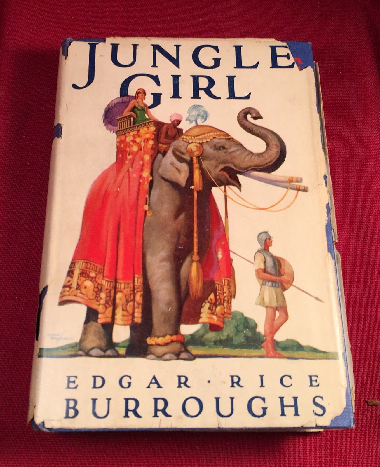 JUNGLE GIRL 1st edition in authentic 1st ed. dust jacket - Edgar Rice Burroughs