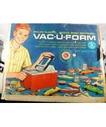 Box lot 1962 Vac-U-Form machine by Mattel with molds sheets parts Instru... - $153.45