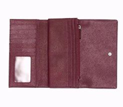 New Fossil Dawson Women Flap Leather Clutch Variety Color image 5