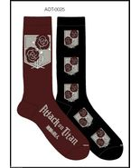 Anime Attack on Titan Stationary Garrison Unisex 2 Pair Crew Cut Socks C... - $6.95